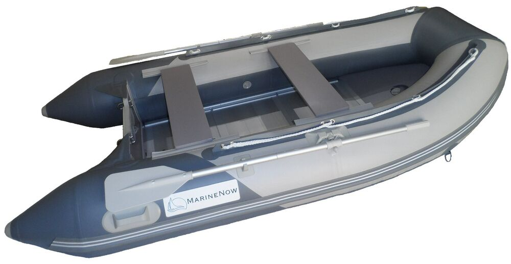 10 8 Ft Roll Up Inflatable Boat Aluminum Floor Dinghy
