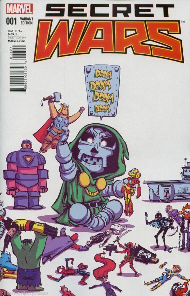Secret Wars 1 Skottie Young Baby Variant Nm 2015 Dr Doom