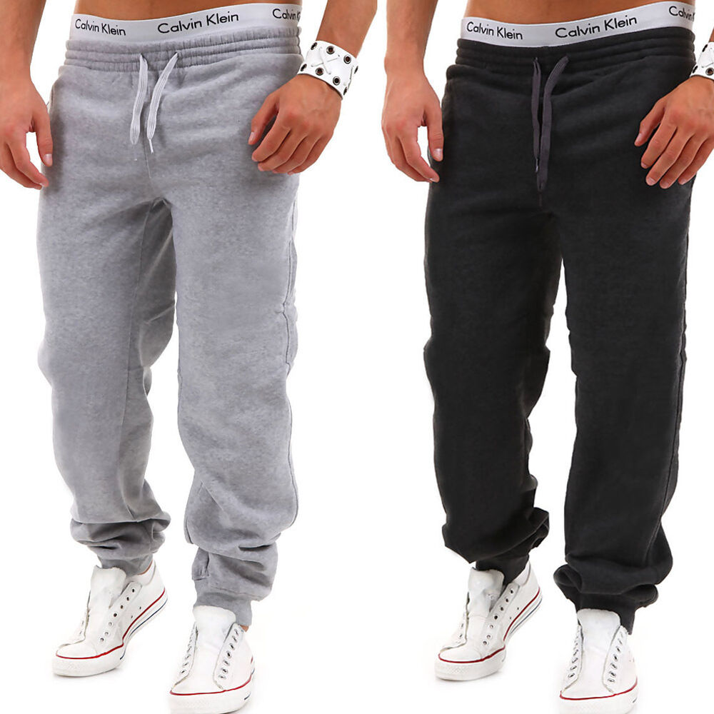 herren trainingshose jogginghose sporthose fitness hose schwarz grau dunkelgrau ebay. Black Bedroom Furniture Sets. Home Design Ideas