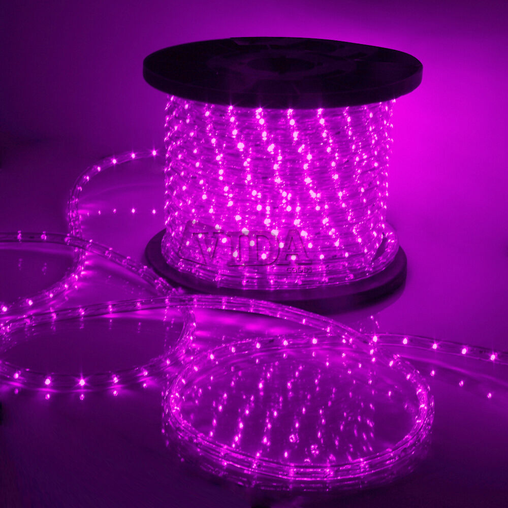 Pink LED Rope Light 110V Home Party Christmas Decorative