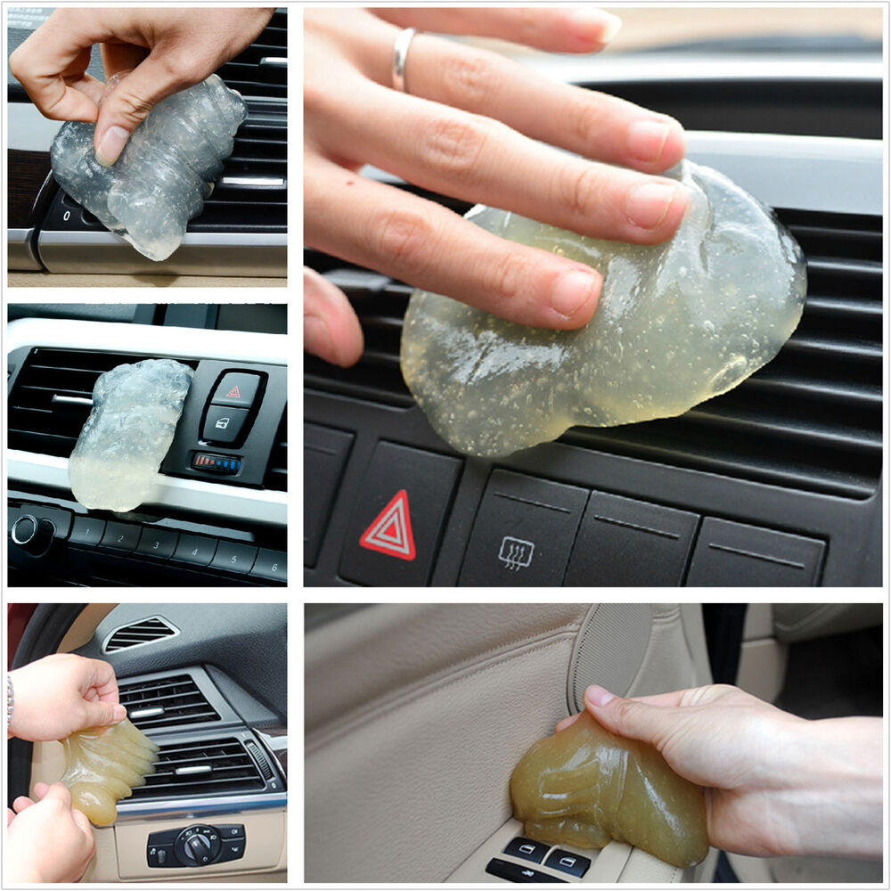 universal auto interior dashboard armrest box dust hairs cleaning soft gel glue ebay