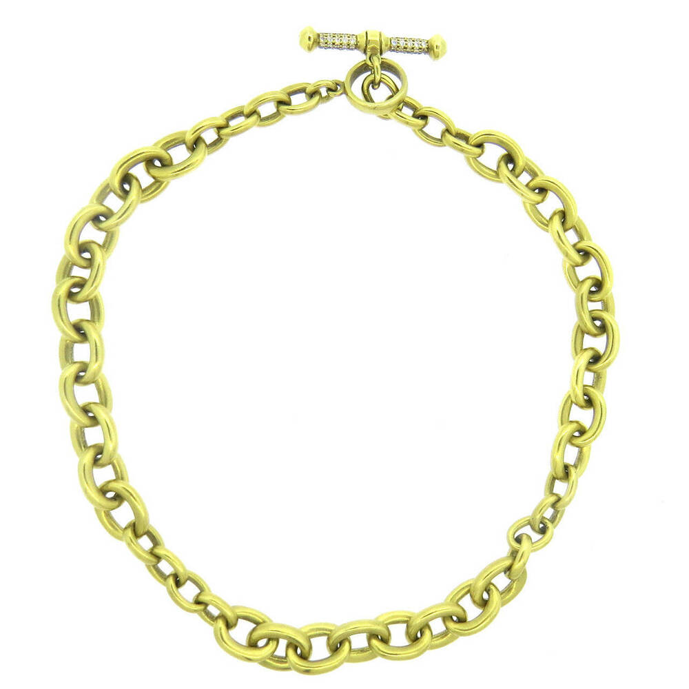 barry kieselstein cord 18k gold chain diamond toggle. Black Bedroom Furniture Sets. Home Design Ideas