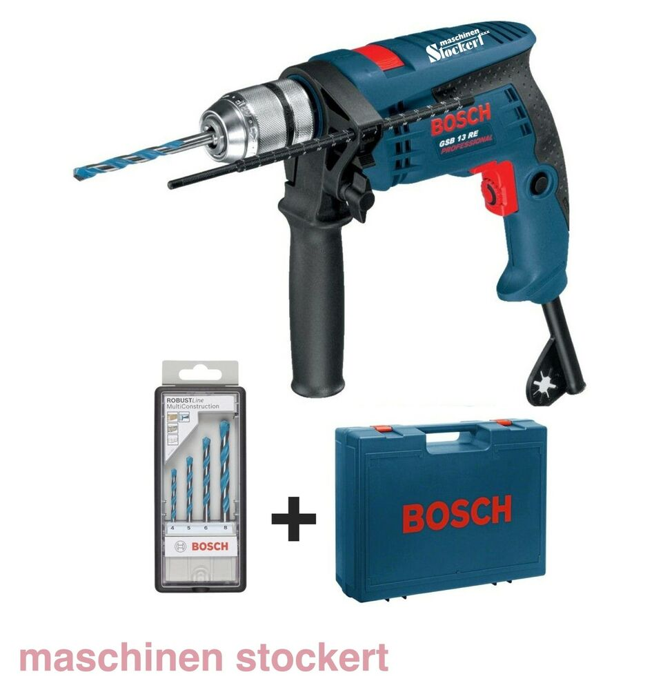 bosch schlagbohrmaschine gsb 13 re professional 4 tlg multiconstruction set ebay. Black Bedroom Furniture Sets. Home Design Ideas