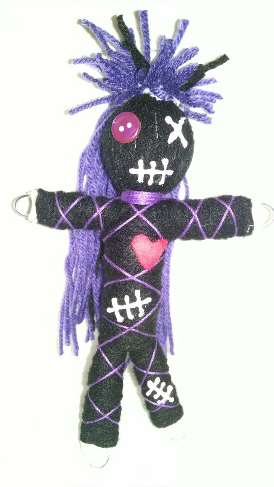 Authentic Voodoo doll real Purple stitch 7 pins guide ...