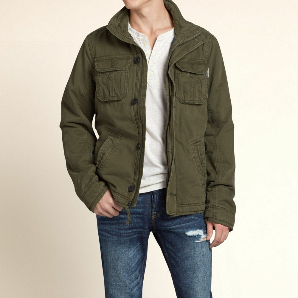 new hollister abercrombie mens rockpile quilted military