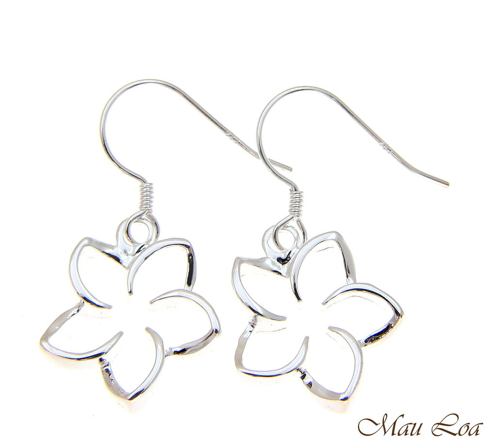 925 sterling silver hawaiian floating outline plumeria