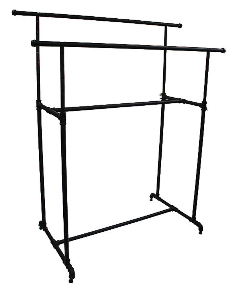 Garment clothes display double rack retail industrial