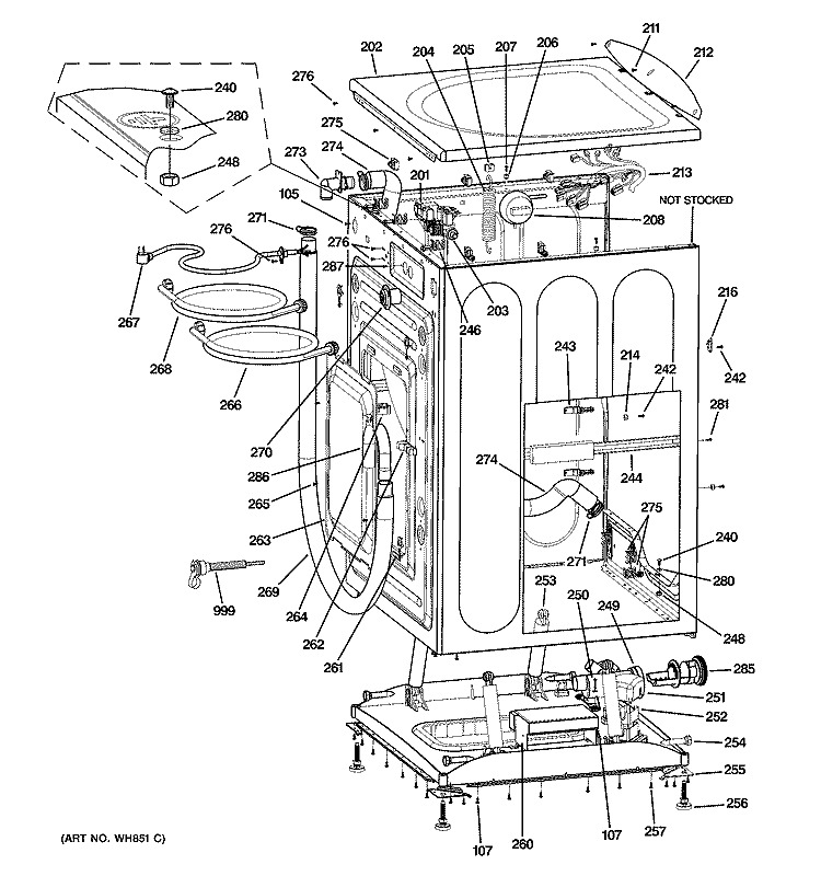 ge refrigerator parts schematic