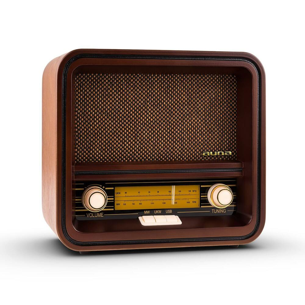 vintage style retro radio am fm usb mp3 wooden nostalgia stereo system music ebay. Black Bedroom Furniture Sets. Home Design Ideas
