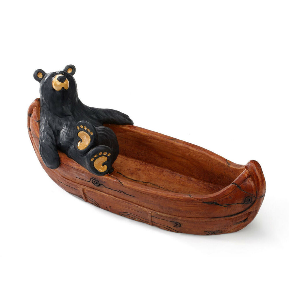 Big sky carvers bearfoots black bear lazy river canoe