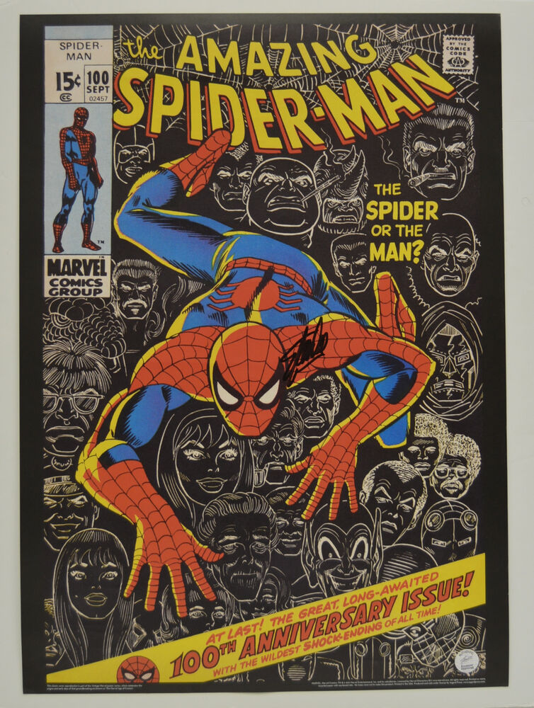 STAN LEE signed AMAZING SPIDER-MAN #100 Comic Cover ...