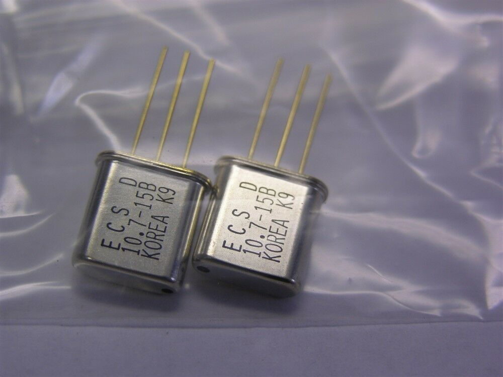 20 Ecs 10 7mhz Matched Pair Monolithic Crystal Filters 10