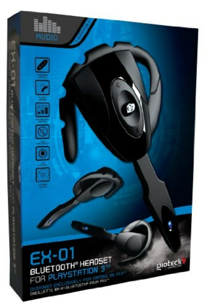 gioteck ex 01 bluetooth headset for ps3 ebay. Black Bedroom Furniture Sets. Home Design Ideas