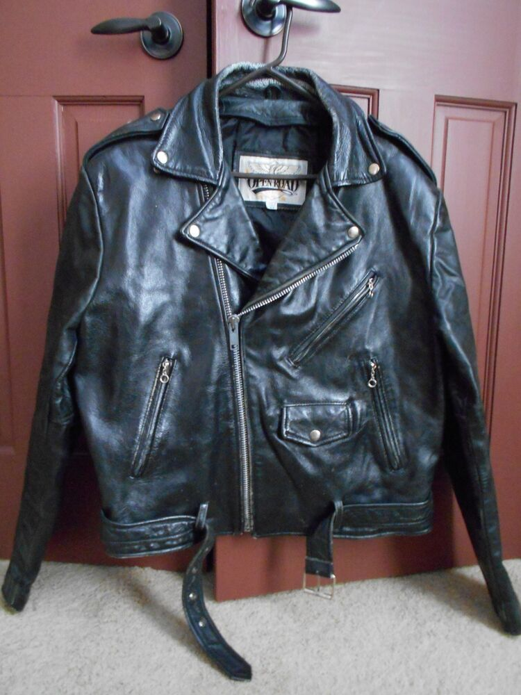 Man S Size 44 Vintage Style Open Road Leather Motorcycle