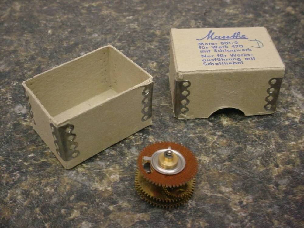 Vintage Mauthe 801 2 Electric Clock Motor Gears For Work