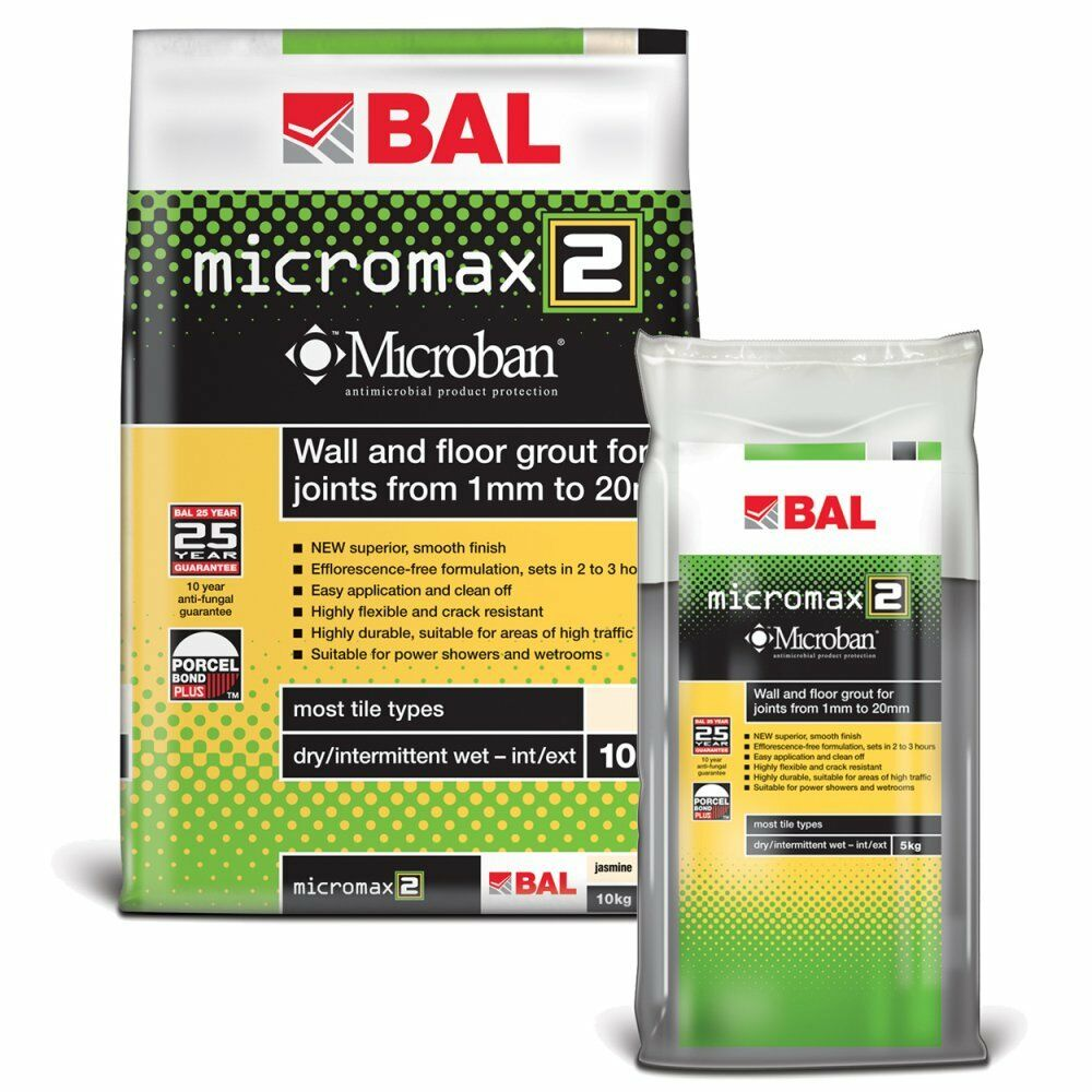 bal micromax2 anti mould bacteria rapid set tile grout for. Black Bedroom Furniture Sets. Home Design Ideas