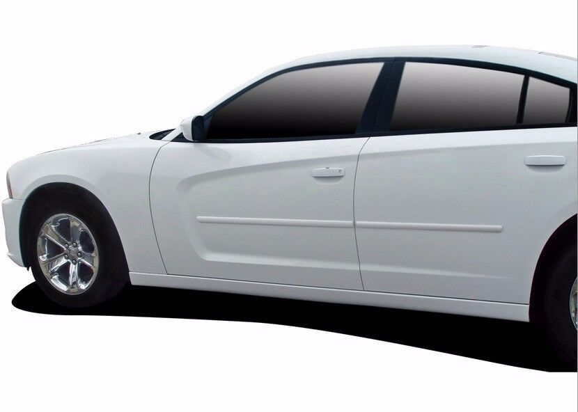 FITS DODGE CHARGER 2011-2014 PAINTED BODY SIDE DOOR MOLDING TRIM 4PCS | eBay