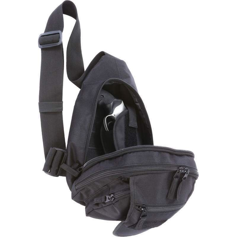 black concealed hand gun holster sling bag day pack pistol