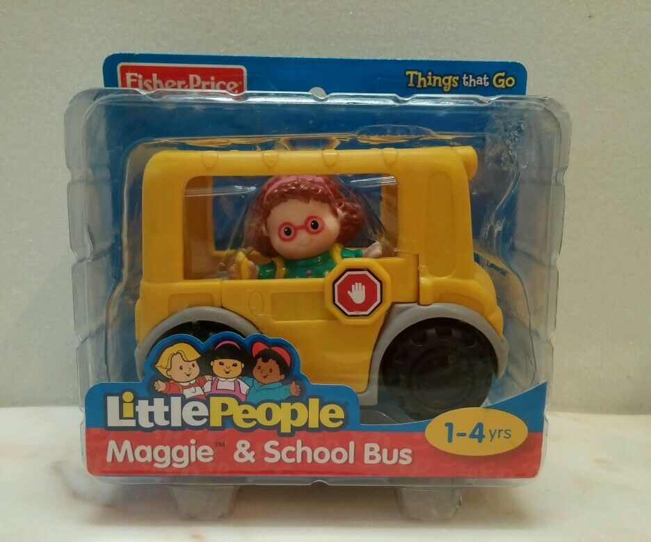 fisher price little people maggie and school bus new in. Black Bedroom Furniture Sets. Home Design Ideas