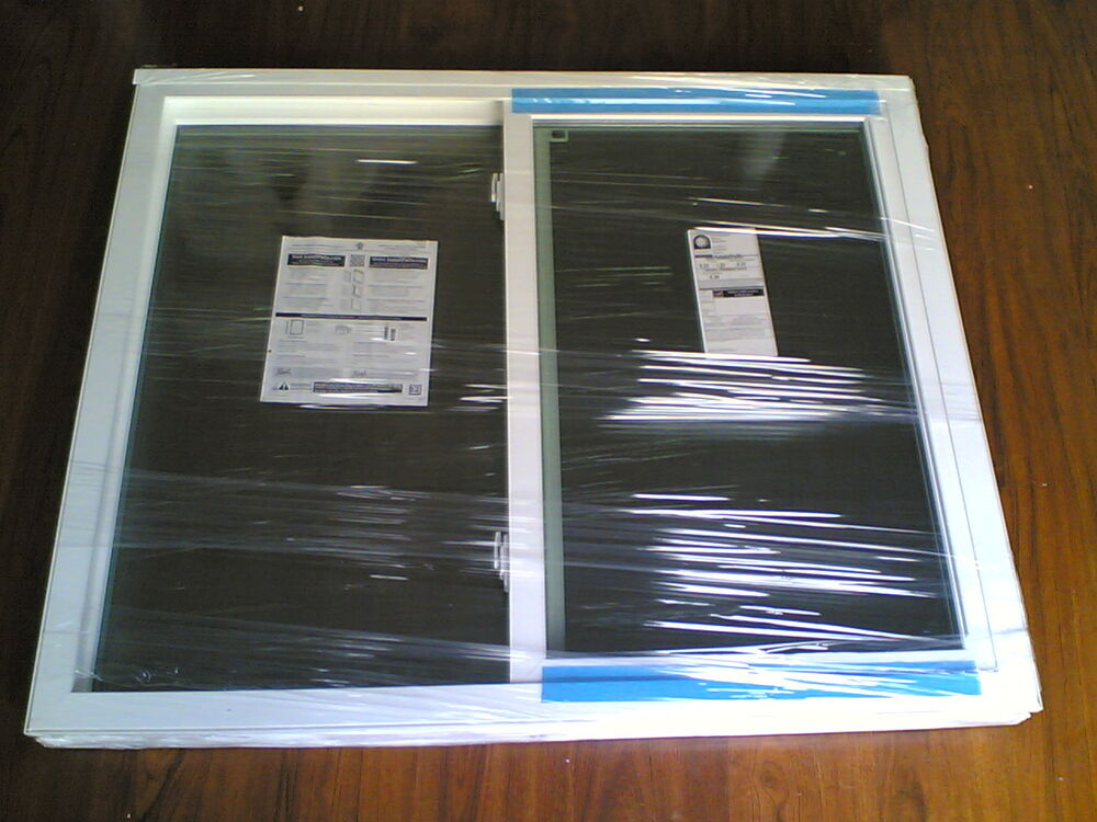 Brand new pella white vinyl semi slider home window 48 for Brand new windows