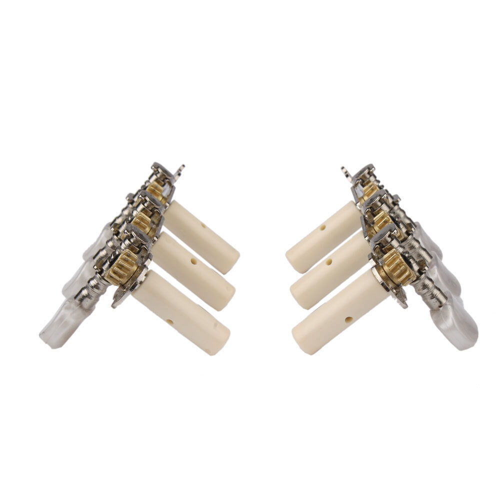one set 3r3l classical guitar tuning pegs machine heads oval button tuners keys ebay. Black Bedroom Furniture Sets. Home Design Ideas