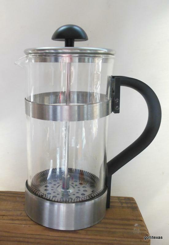 ikea 8 cup 34 oz stainless steel black french press coffee maker ebay. Black Bedroom Furniture Sets. Home Design Ideas