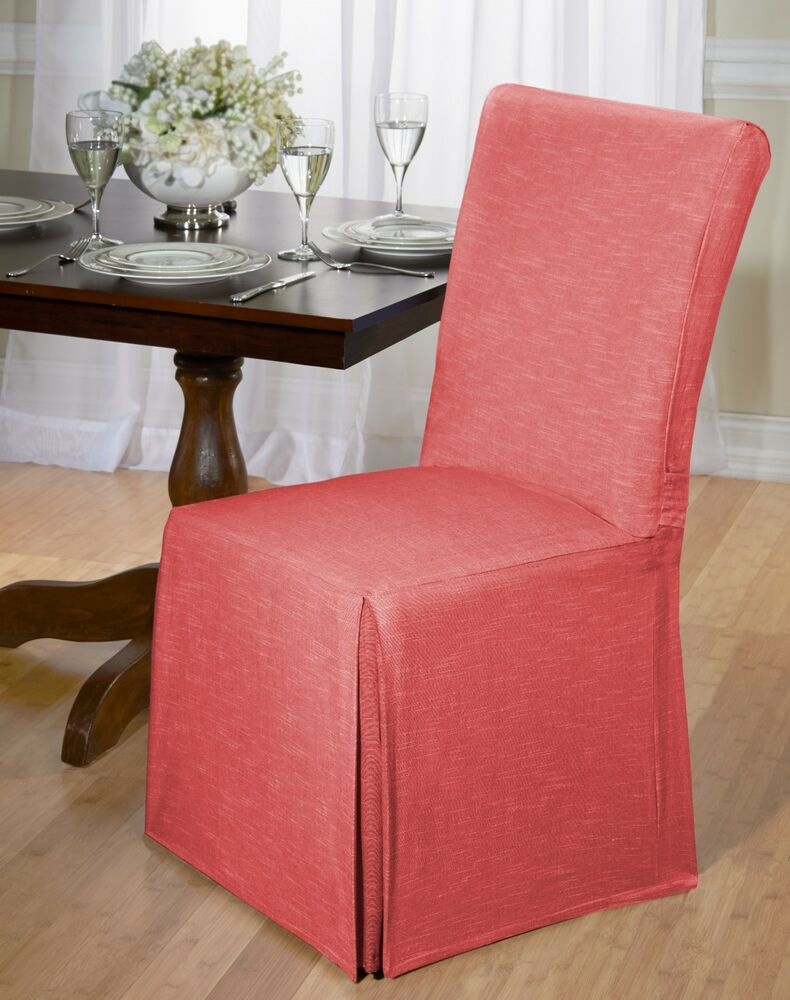 Luxurious Cotton Dining Chair Cover Chambray Back Tie