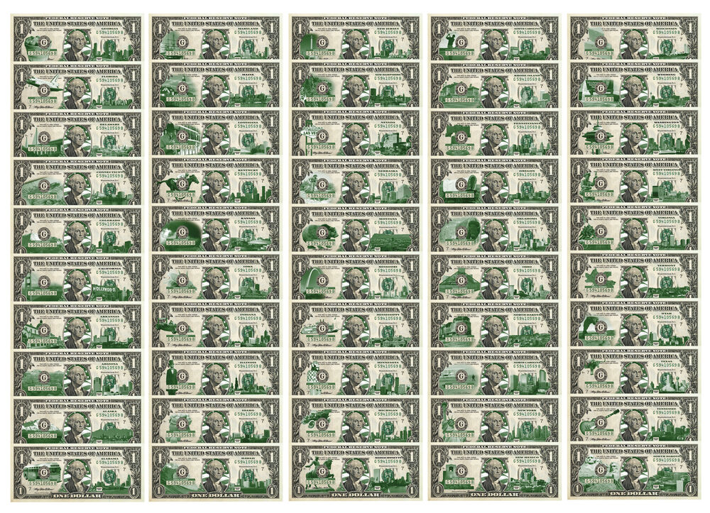 Set Of 50 State 1 Bill Genuine Legal Tender U S One
