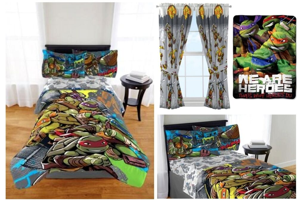 Kids Boys Teenage Mutant Ninja Turtles Bed In A Bag