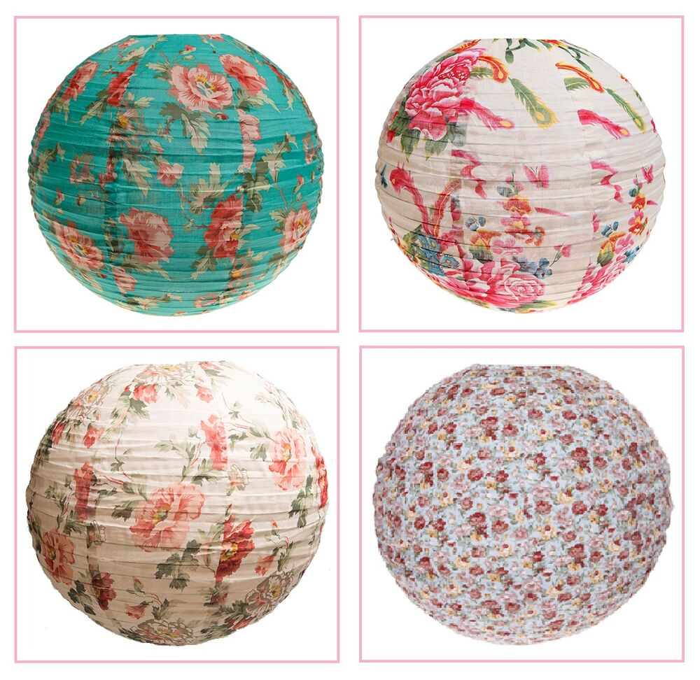 Sass Amp Belle Vintage Floral Fabric Ceiling Light Lamp