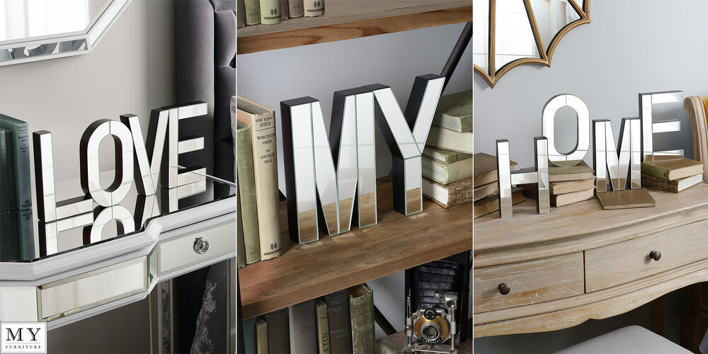 My Love Home Large Mirrored Freestanding Or Wall