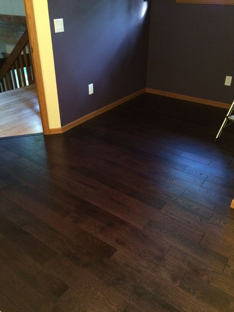 European White Oak Smoked Dark Brushed Oiled Hardwood Wood