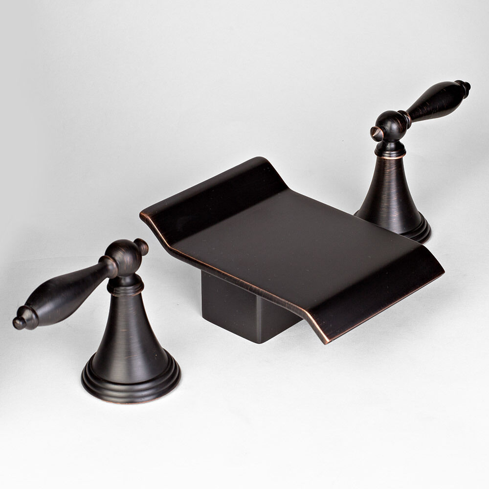 New 8 Oil Rubbed Bronze Widespread Bathroom Vanity Sink Faucet Two Handle Mixer Ebay