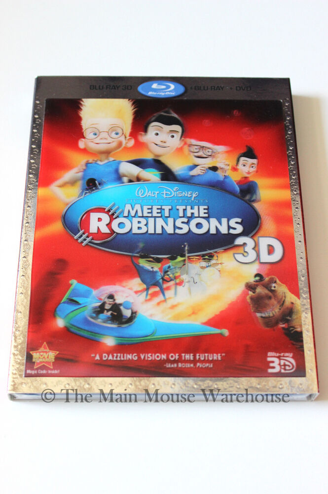 disney meet the robinsons animated movie 3d blu ray dvd and lenticular slipcover 786936818321 ebay. Black Bedroom Furniture Sets. Home Design Ideas