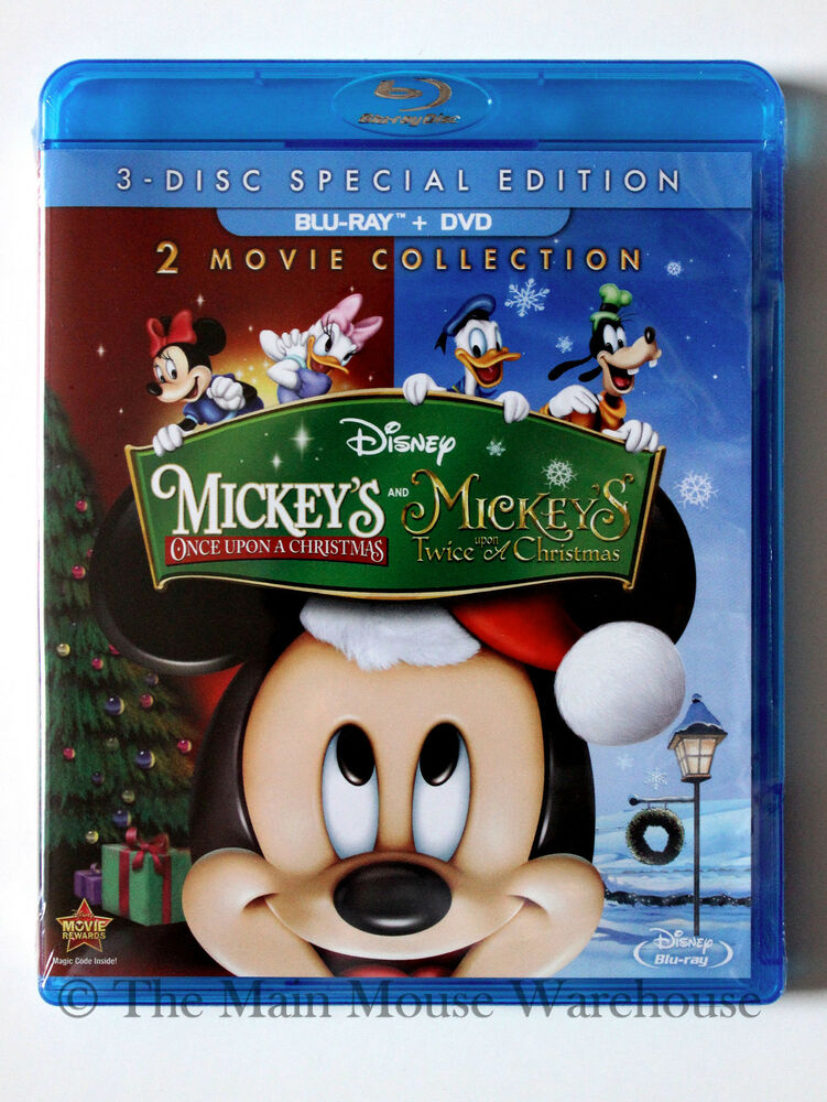 disney mickey 39 s once upon a christmas twice sequel blu ray dvd w slipcover 786936843903 ebay. Black Bedroom Furniture Sets. Home Design Ideas