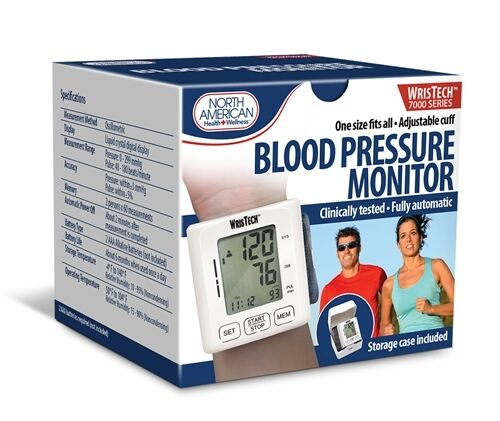 how to use wristech blood pressure monitor