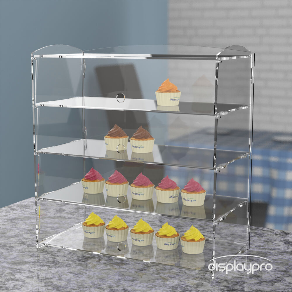 Acrylic Bakery Pastry Display Case Stand Cabinet Cakes