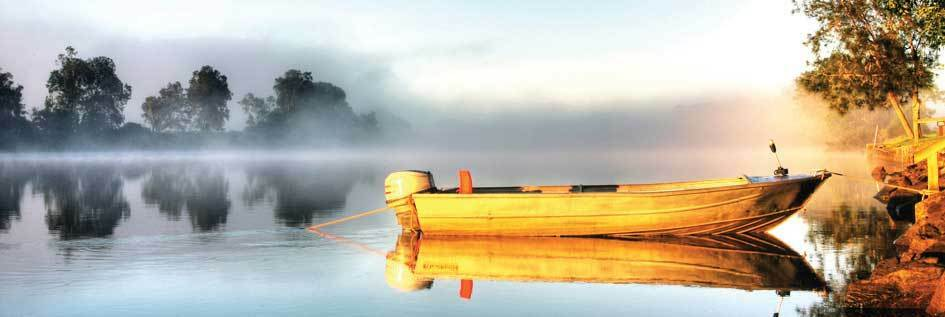 40 x 120 tempered glass wall art picture stylish modern boat on lake design ebay - Glass art by artis ...