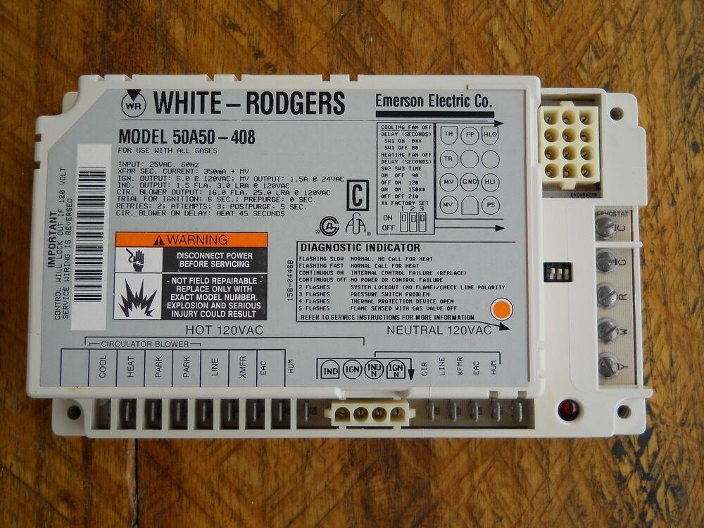 Oem White Rodgers Furnace Control Circuit Board 50a50