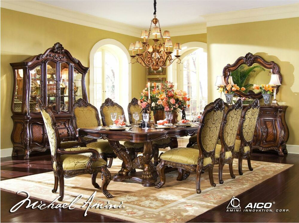 chateau beauvis luxury 9 piece traditional formal dining