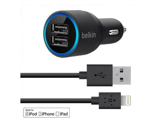 Belkin  Port Car Charger With Lightning To Usb Cable