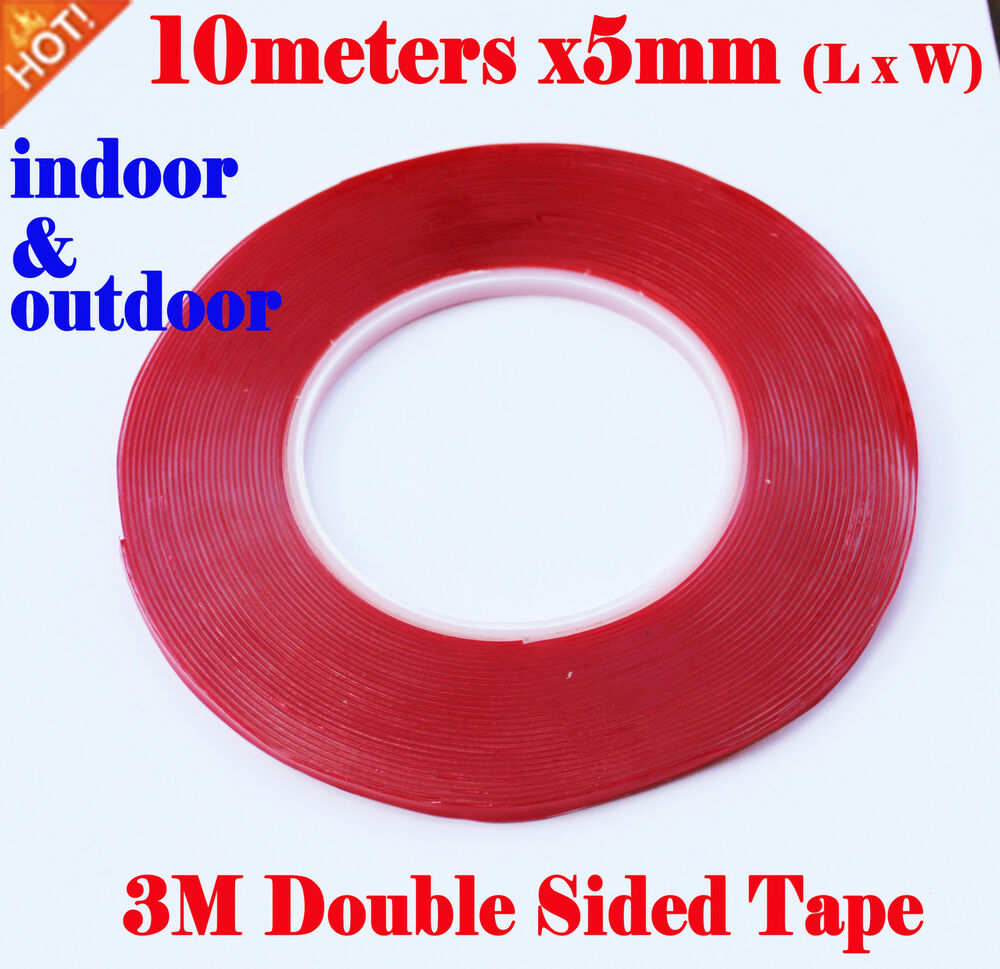 3m double sided vhb acrylic gel tape clear 7302 5mmx10meters strong heavy duty ebay. Black Bedroom Furniture Sets. Home Design Ideas