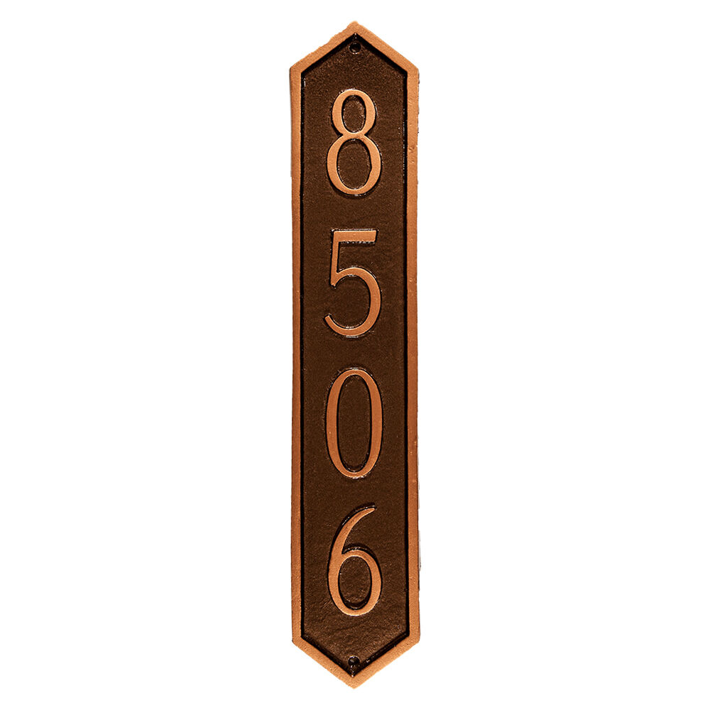 Piedmont Column Vertical Address Plaque House Sign Numbers