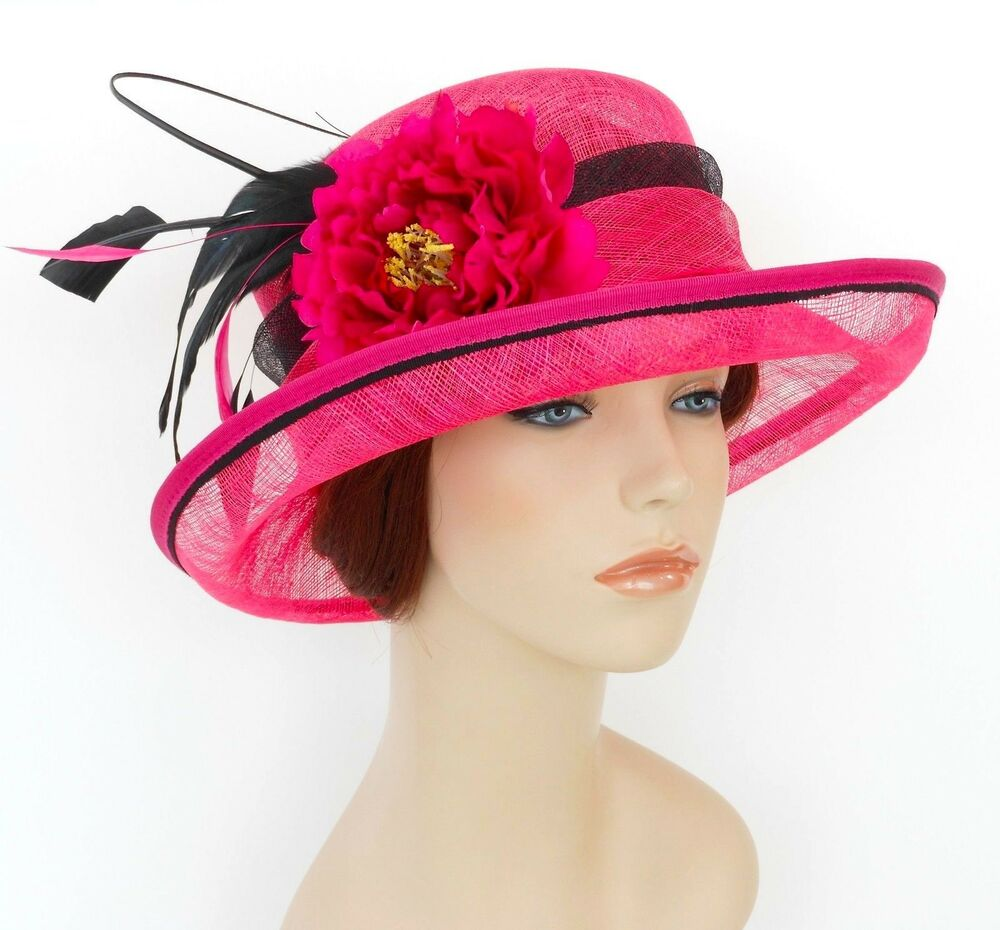 New woman church derby wedding sinamay ascot dress hat sdl for Dress hats for weddings