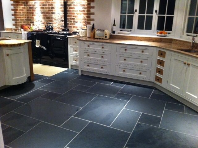 Large Brazilian Black Slate Floor Tiles Calibrated 900 X