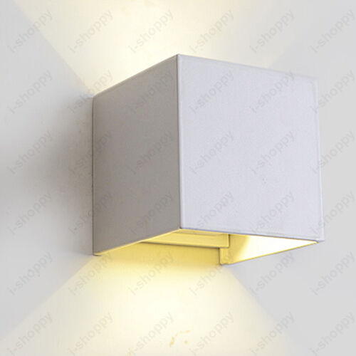 Wall Sconce With Up And Down Light : 6W LED Up/Down Lamp Outdoor Wall Sconces Light Adjustable Garden Patio Cottage eBay