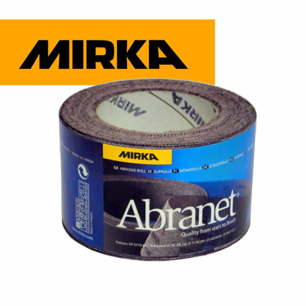 Mirka Abranet Abrasive Roll Sandpaper - 75mm x 10mtr *All Grits Available*