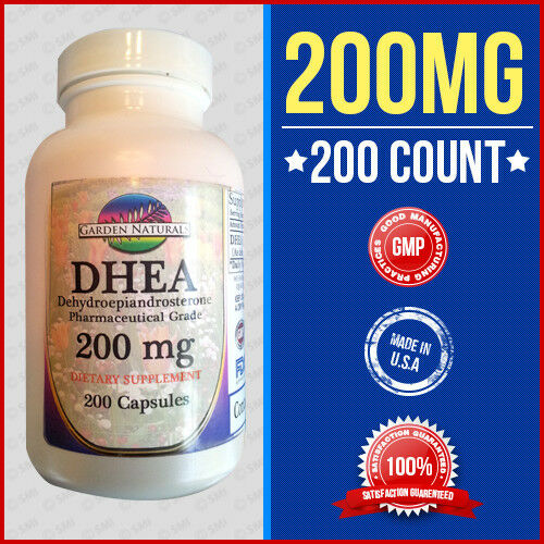 DHEA 200MG Dehydroepiandrosterone-Pharmaceutical Grade-Diet 200 Capsule Made USA | eBay
