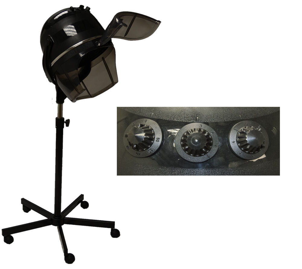 Professional Hair Steamer Rolling Stand Beauty Salon Color: New Professional Hooded Hair Dryer On Wheels Stand Barber