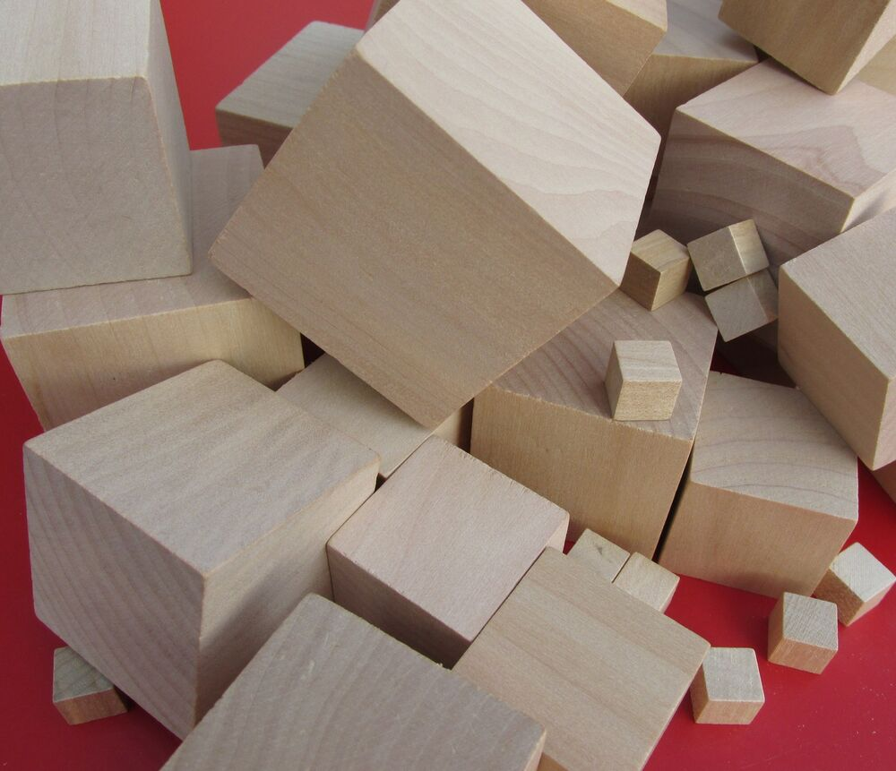Wooden craft supplies blocks wood cubes 10mm 60mm for Where to buy wood blocks for crafts